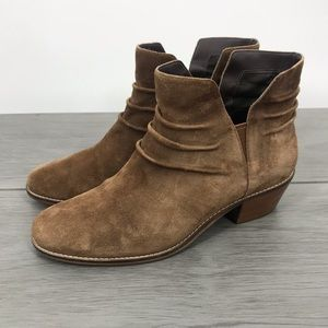 Cole Haan brown leather suede ankle booties 9.5